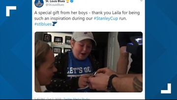 'It's her whole hand': Laila gets a Blues Stanley Cup Championship ring