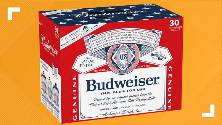 anheuser-busch patriotic military budweiser cans
