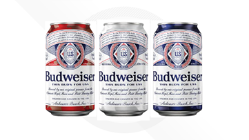 Budweiser debuts new can design to salute US military