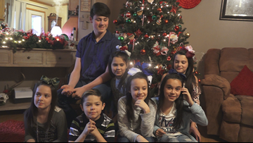 'We get our own beds': Arkansas couple adopts set of 7 siblings ahead of Christmas