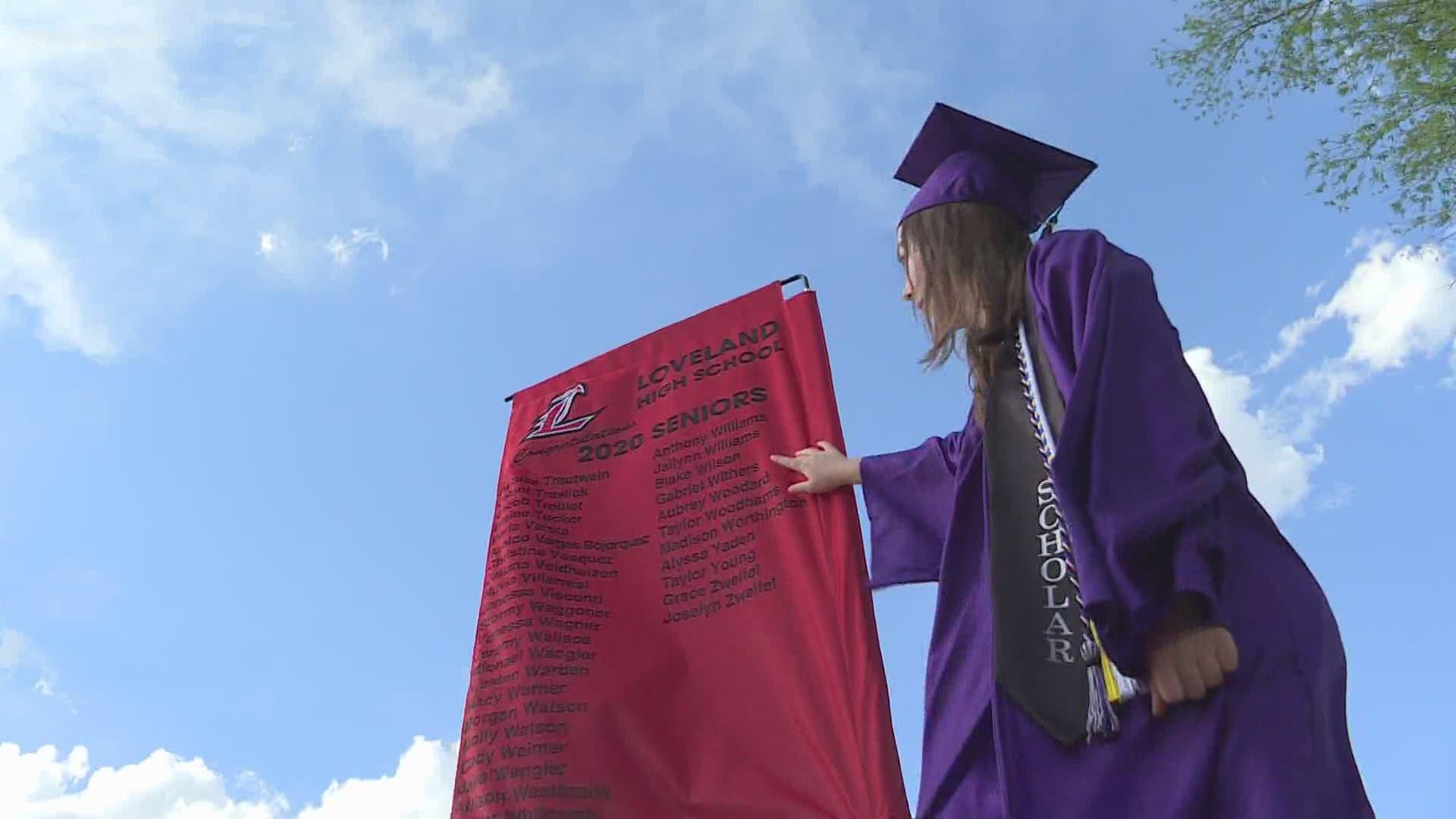 Loveland Halloween 2020 Rescheduled Graduate Walk of Honor' honors seniors in Loveland