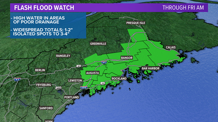 Downpours continue tonight in Maine; more big waves on the way