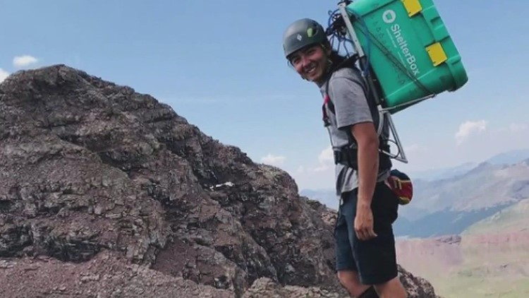 Man carries Shelterbox up New England's 67 peaks over 4,000 feet