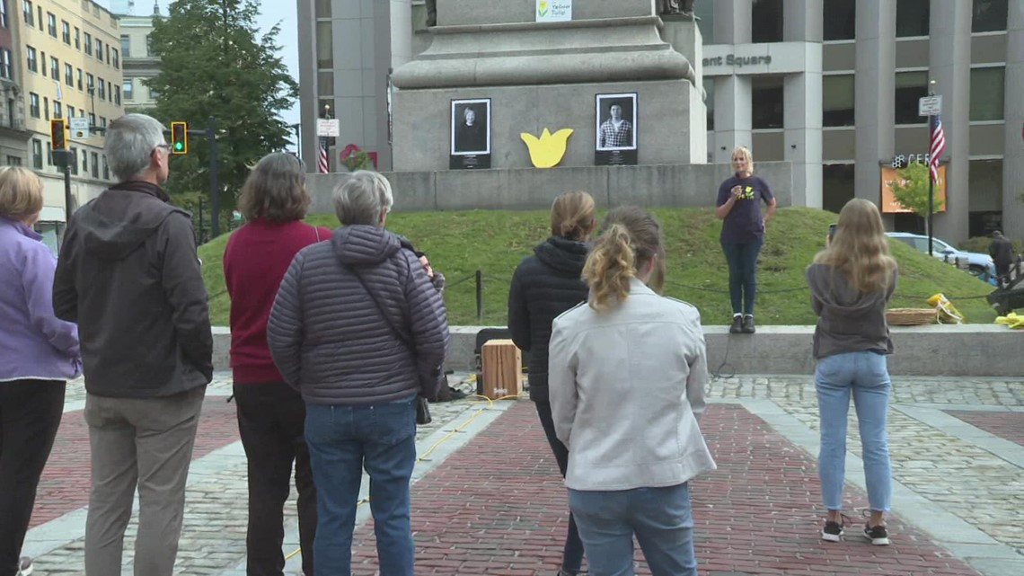 Yellow Tulip Project celebrates World Mental Health Day in Portland