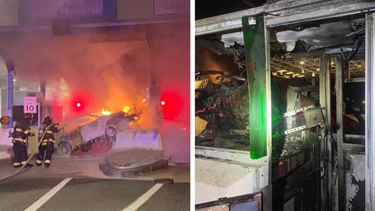 Driver charged with aggravated OUI in crash that left toll booth worker with cuts to head, face