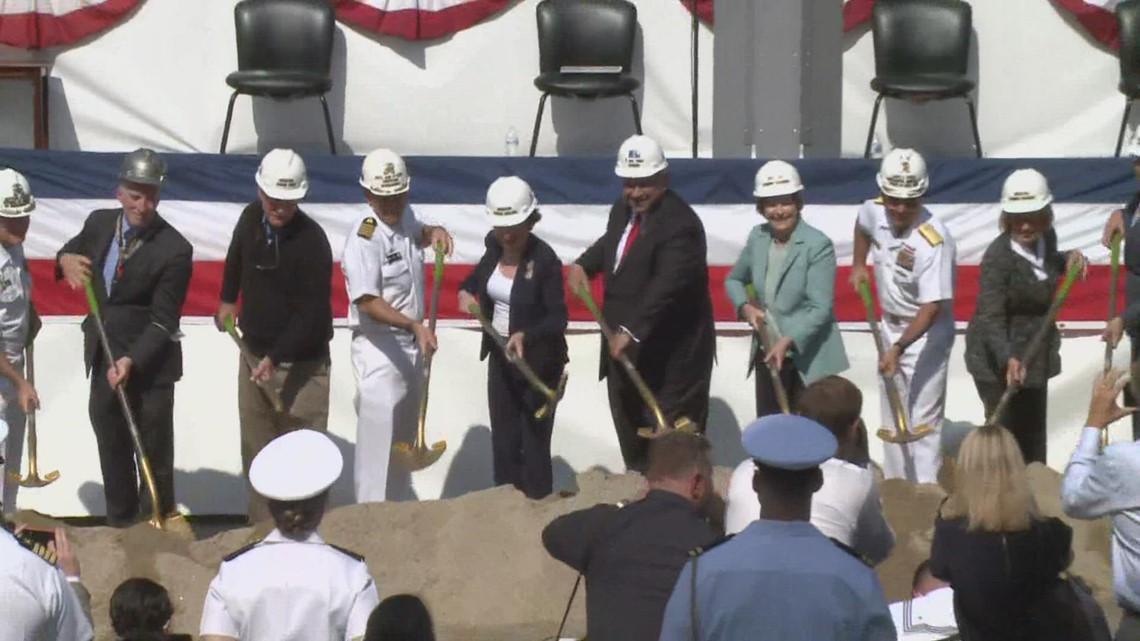 Secretary of the Navy attends groundbreaking of Portsmouth Naval Shipyard dry-dock upgrade