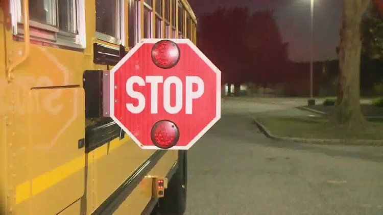 Westbrook school bus drivers noticing people not stopping when lights flashing, stop sign deployed