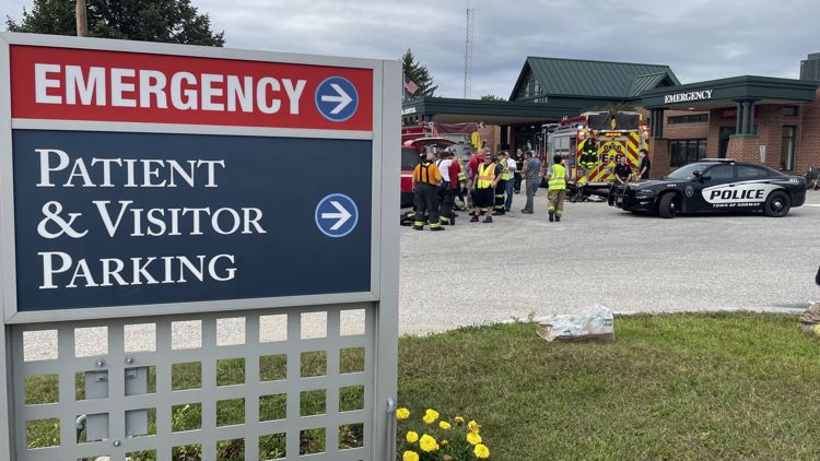 Stephens Memorial Hospital evacuated due to a report of smoke
