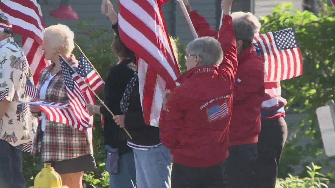 The Freeport Flag Ladies mark the anniversary of September 11th