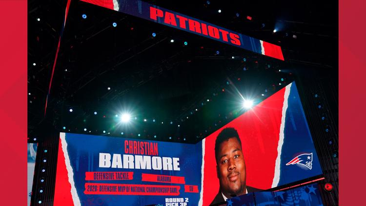 Patriots trade up, select DT Christian Barmore with 38th overall pick