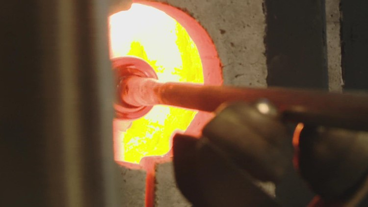 Glassblowing heats up in a new studio at Waterfall Arts