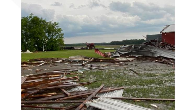 100 mph microbursts likely cause of damage in Monday's Aroostook County storms, NWS said