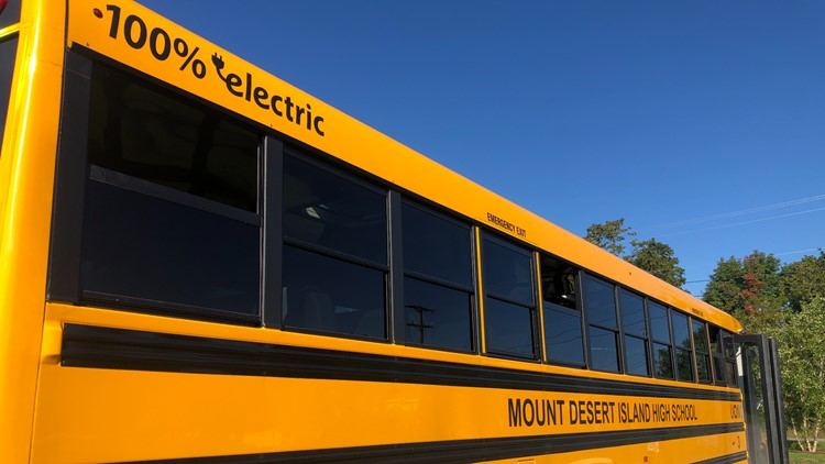 Maine rolls out state's first electric school bus