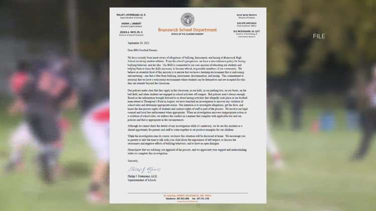 Brunswick High School football players removed from team following hazing investigation
