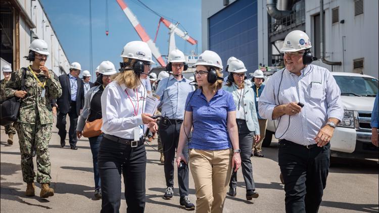 Deputy Secretary of Defense visits Bath Iron Works