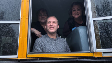 WATCH: Bus drivers keep school lunches going