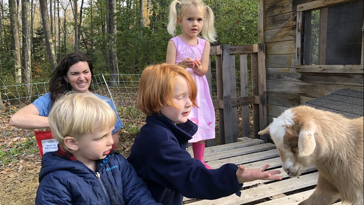 Hampden outdoor daycare connects kids with nature