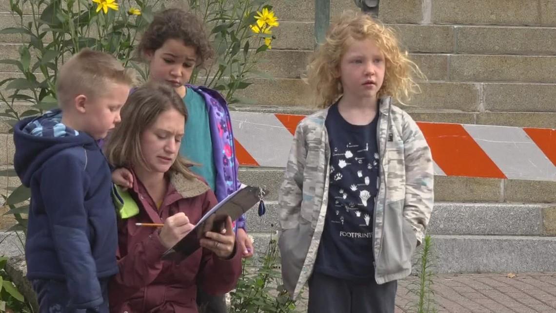 Bangor children take part in walking audit
