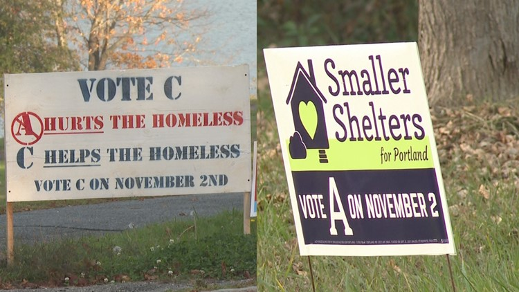Portland voters to decide on size of new homeless shelters