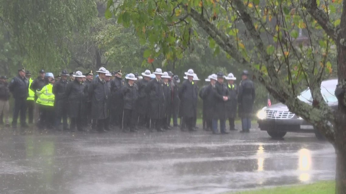 Fallen Deputy Luke Gross transported, honored with procession