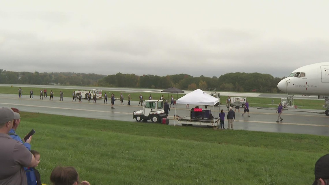 Plane pull for the Travis Mills Foundation