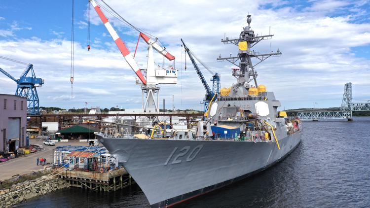 Bath Iron Works to christen newest Arleigh Burke-class destroyer