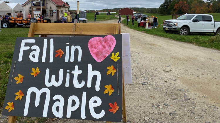 Foliage, apples, pumpkins, and syrup bring hundreds to local Maine orchards and sugar houses