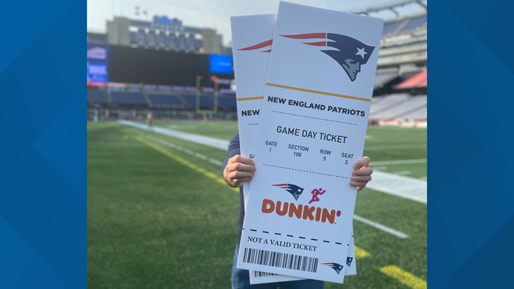 Patriots mascot, cheerleaders to give away home game tickets at southern Maine Dunkin' locations Tuesday