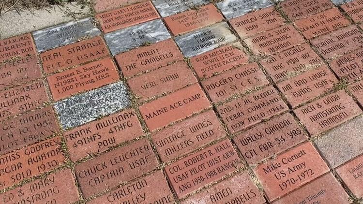 Maine Air Museum dedicates new memorial brick pathway to recognize veterans