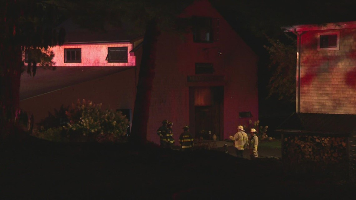 Lightning strike causes fire in Falmouth