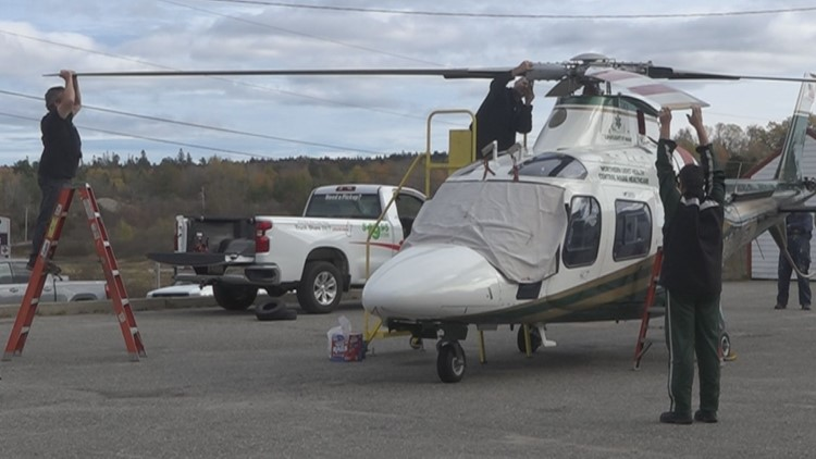 LifeFlight helicopter still grounded in Machias after ambulance backed into its blade