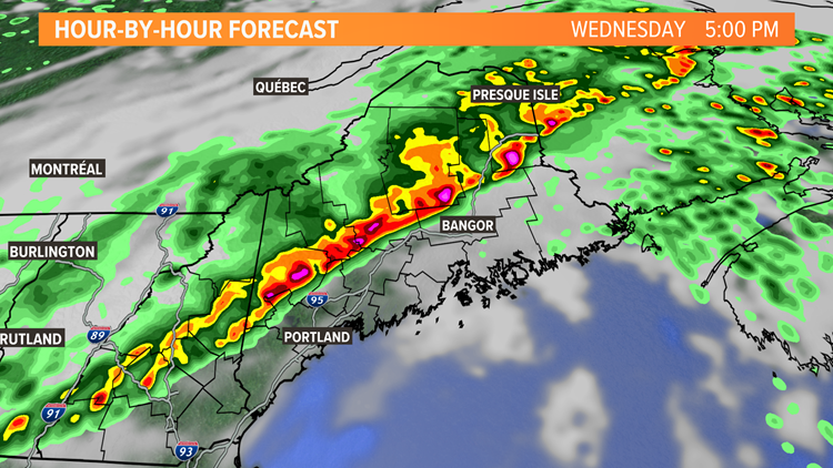 Maine faces thunderstorms and a tornado threat for Wednesday