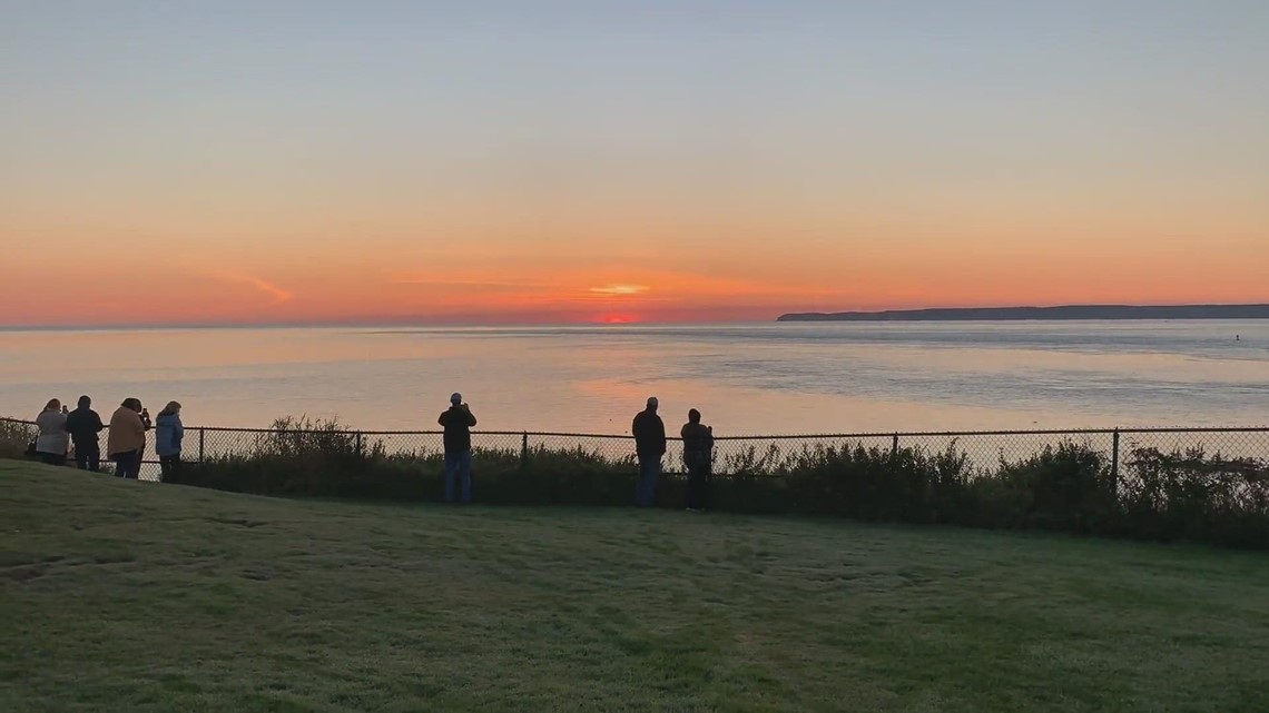 Sunrise at West Quoddy Head lighthouse