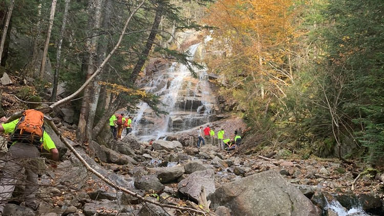 Yarmouth teen falls nearly 80 feet while hiking, rescuers carry her out of New Hampshire trail