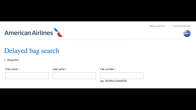 American is just one airline with online self-tracking features for lost bags.