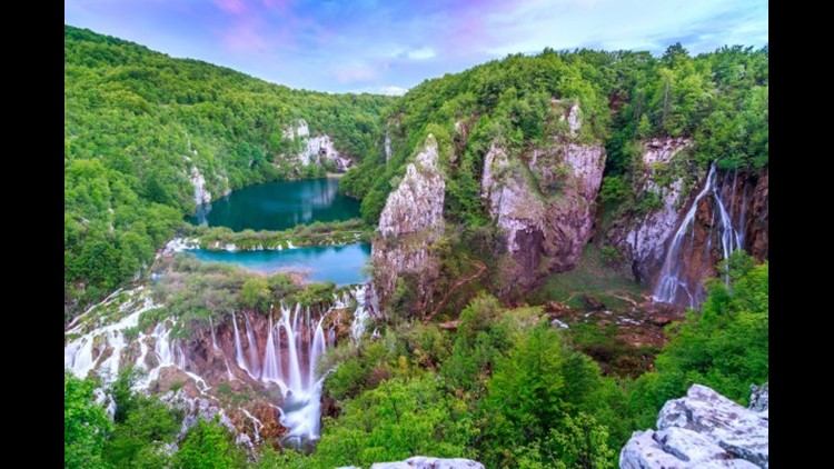 Waterfalls in Plitvice National Park, Croatia. (Photo by Remedios / Getty Images)