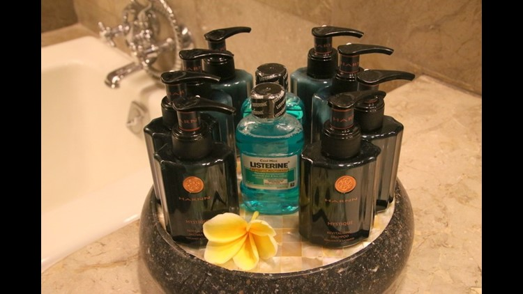 While I did take these luxury toiletries from the Intercontinental Bali for a guest bathroom, anything less I leave behind. Image by the author.