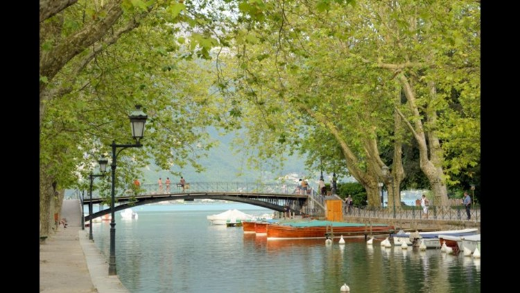 Pont des Amours by Lake Annecy. (Photo by Richard Villalon / Getty Images)