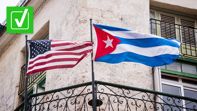 Yes, the US embargo allows humanitarian aid to reach Cuba, but it's unclear whether Cuban citizens are receiving it