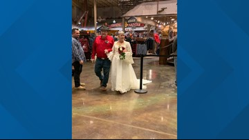 Walking down the aisle: Couple gets married at a Bass Pro Shops