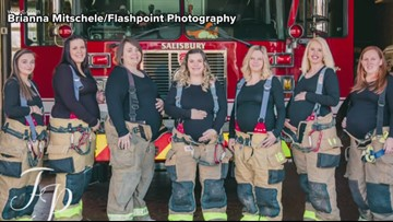 Seven wives of North Carolina firefighters pregnant at same time