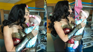 HEARTWARMING: Gal Gadot surprises patients at children's hospital as Wonder Woman
