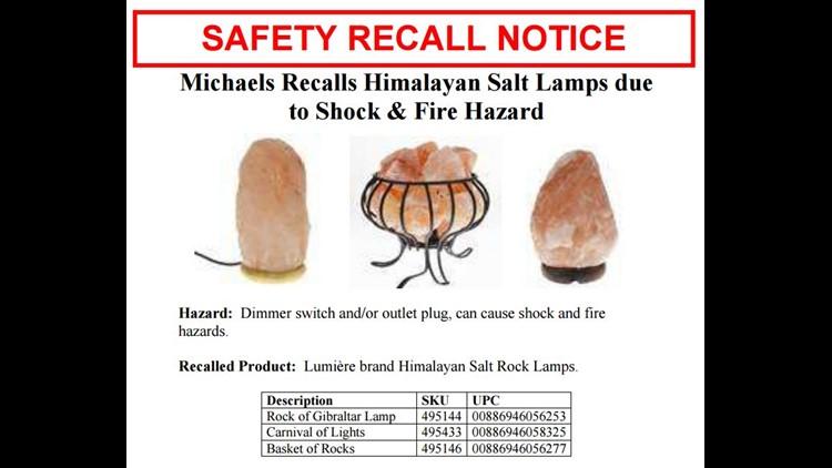 Recall Alert Thousands Of Salt Lamps Are Shock Fire