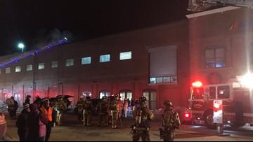 Crews in Waterville fight blaze at Huhtamaki mill building
