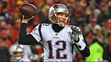 Did someone shine a laser pointer at Tom Brady's face during the AFC game?