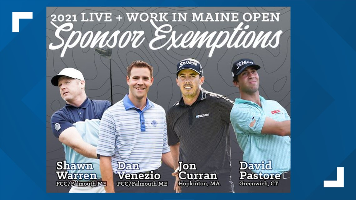 Local golfers will tee it up with the pros at the Live + Work in Maine Open next month