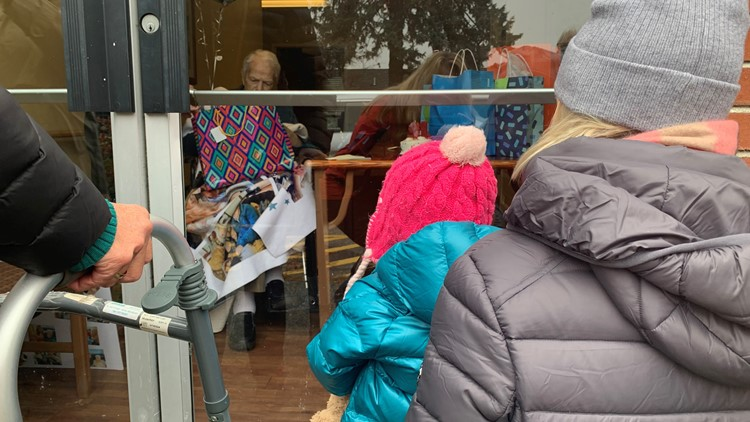 Families push for 'hugging booth' to help with seniors coronavirus social isolation
