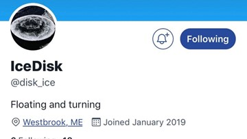The Westbrook ice disk is now on Twitter