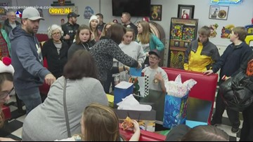 Birthday surprise for 13-year-old Liam Gosselin
