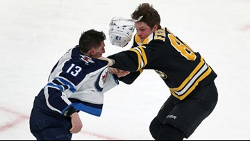 Rookie rumbles while Bruins stumble